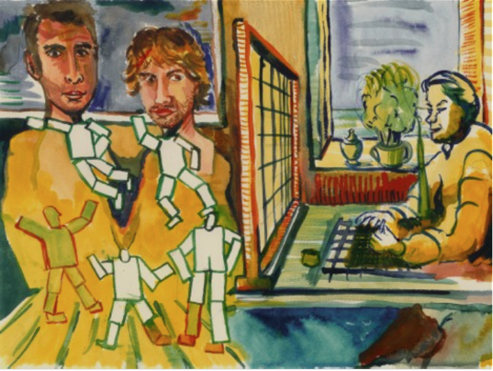 David Bade/N&S and the new Perspective/A4/Acrylpaint on paper.
